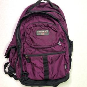 Ralph Lauren Polo Sport Purple Backpack